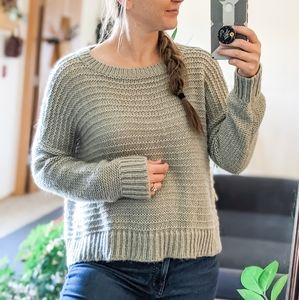 Wooden Ships Mohair Wool Knit Pullover Sweater